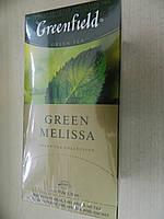 Чай Гринфилд зеленый с мелиссой