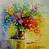 «Полевые цветы» картина маслом