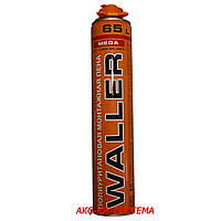 Пена монтажная профессиональная WALLER MEGA, лето, применение от +5ºС до +40ºС, 65 л, 875 мл
