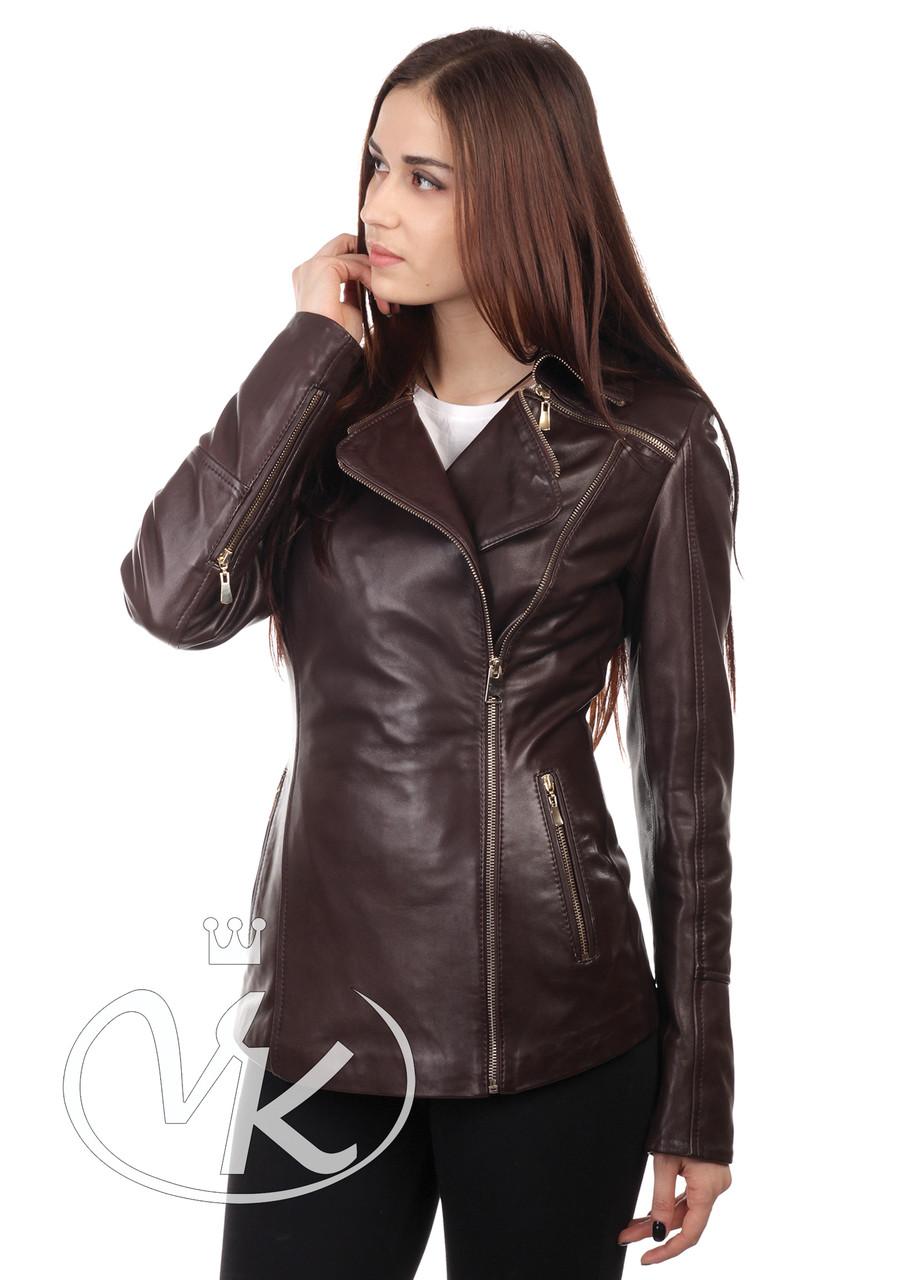 2bd4a36d4a7 Коричневая кожаная куртка женская - Интернет магазин кожаных курток и  дубленок VK-Fason в Виннице