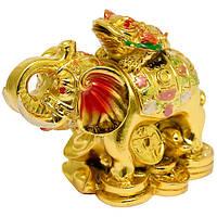 Слон с лягушкой символ богатства, стабильности, устойчивости
