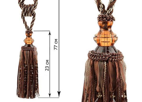 """Декоративные кисти для штор """"Шейх"""", коричневый, фото 2"""
