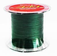 Рыболовный шнур BNT 500м 0.1 мм зеленый