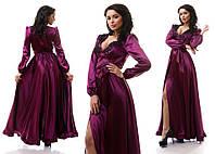 Платье декорированное вышивкой макраме 3 цвета