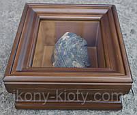 Киот для частички Мамврийского дуба ровный, из ольхи, с внутренней деревянной рамкой., фото 2