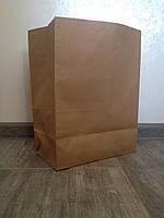Бумажный пакет с дном 210*115*290 бурый