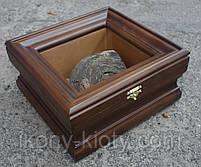 Киот для частички Мамврийского дуба ровный, из ольхи, с внутренней деревянной рамкой., фото 3
