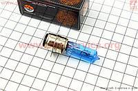 Лампа для фары P15D-25-1 12V 18/18W синяя, HQ фокус