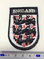 Нашивка герб футбольной команды Англии 7x4,7см