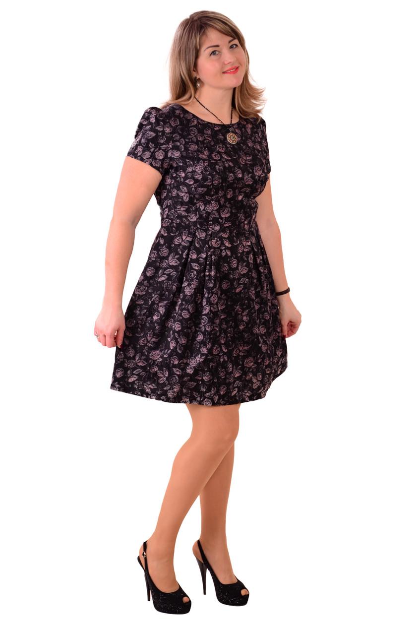 Платье футляр черное , легкое тянется , Пл 072-1