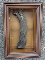 Киот из ольхи ровный для частицы Мамврийского дуба.