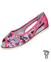 Балетки для девочки розовые р 35