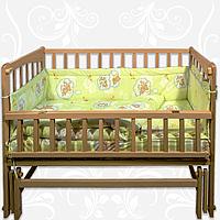 Комплект в детскую кроватку Амурчик 6 элементов бязь
