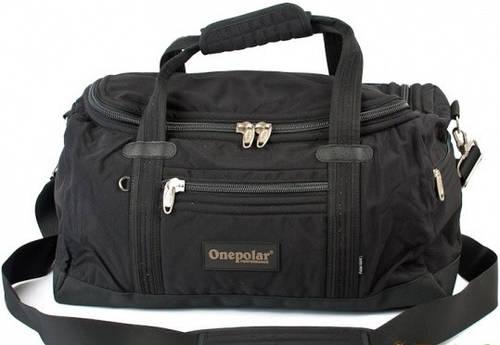 Удобная сумка спортивно-дорожная 45 л Onepolar WB809-black, черный