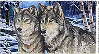 """Схема для вышивания бисером """"Волки"""" 54"""