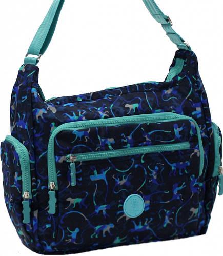 Оригинальная женская сумка Alyona monkey 17 л Bagland 20344 синий