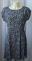 Платье женское летнее вискоза мини бренд C&A Canda р.46 6199