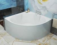 Ванна угловая с подставкой, STG 140, белая