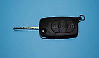Корпус выкидного ключа Volkswagen 3 кнопки старый тип под 2 батарейки, фото 1