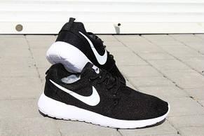 Подростковые кроссовки Nike Roshe Run черно-белые, фото 2