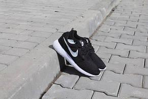 Подростковые кроссовки Nike Roshe Run черно-белые, фото 3