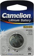 Батарейка литиевая Camelion CR2430 / 1 BL