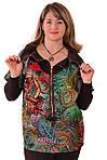 Блузки туніки +для повних ,з рукавами трансформер ,Бл 049, фото 4