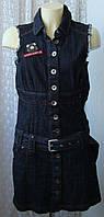 Платье женское джинсовое модное красивое мини EDC Esprit р.44 6208а, фото 1