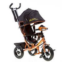 Трехколесный велосипед Azimut Lambortrike Air VIP с фарой коричневый