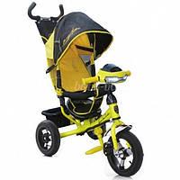 Трехколесный велосипед Azimut Lambortrike Air VIP с фарой желтый