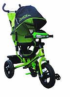 Трехколесный велосипед Azimut Lambortrike Air VIP с фарой зеленый