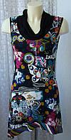 Платье женское летнее модное яркое вискоза стрейч мини Cassis р.42-44 6211, фото 1