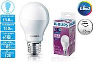 Лампа светодиодная PHILIPS_LEDBulb 18W(1950Lm) 6500K 230V A67_E27