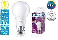 Лампа светодиодная PHILIPS_LEDBulb 13-100W (1400Lm) 6500K 230V A60_E27