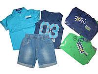 Костюм летний тройка (майка, рубашка, шорты)  для мальчика, размеры 1года, арт. КК 560