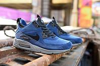 Кроссовки Nike Air Max Sneakerboot Blue Black  синие кроссовки найк, кроссовки air, кроссовки air