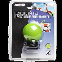 Громкий электронный звонок для велосипеда зеленого цвета