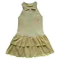 Сарафан для дівчинки «Зірочка» жовтого кольору, зріст 74-80 см, фото 1