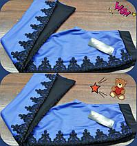 """Детские кожаные леггинсы-лосины """"Сабина"""" с кружевом (2 цвета), фото 3"""