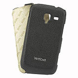 Чехол Samsung Galaxy Ace 2 i8160 VettiCraft Slim Flip Normal Black, фото 2
