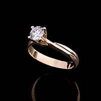 Женское золотое помолвочное кольцо с фианитом