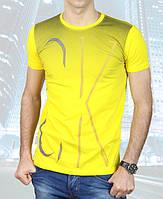 Футболка мужская Calvin Klein-2013-29 желтая