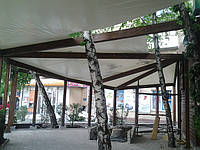 Тент на деревянную конструкцию для летнего кафе