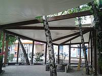 Тент на деревянную конструкцию для летнего кафе, фото 1