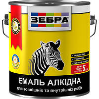 Емаль алкідна 2,8кг ПФ-116 ЗЕБРА 90 Чорний