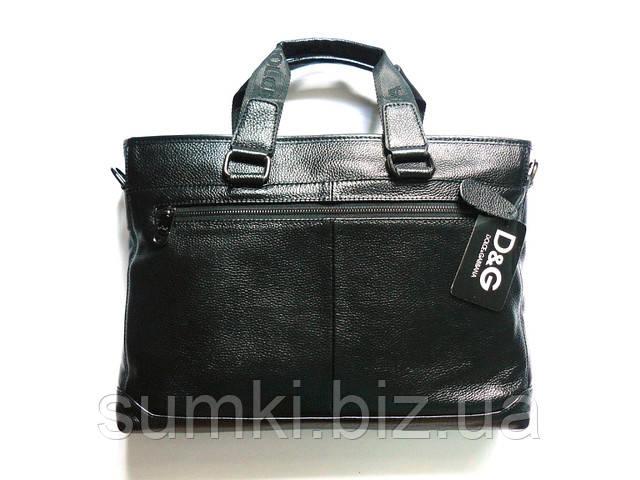 Мужской кожаный портфель D&G