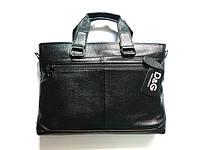 Мужской кожаный портфель D&G, фото 1