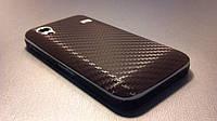 """Декоративная защитная пленка для Samsung GT-S5830 Galaxy Ace """"карбон коричневый"""", фото 1"""