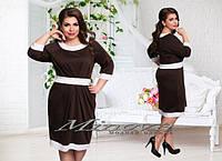 Трикотажное платье Жаклин(размеры 50-56)