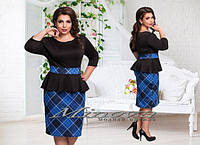 Трикотажное платье Руслана (размеры 50-56)